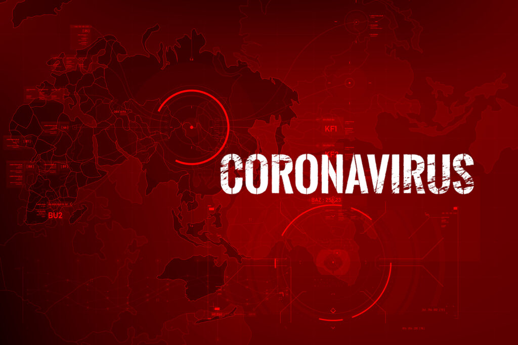 Coronavirus Text Outbreak With The World Map And Hud 0002